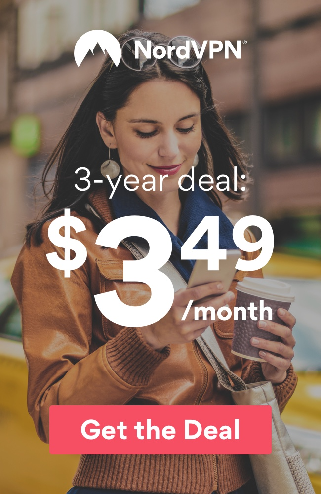 NordVPN: $3.49/Month for 3 Years.