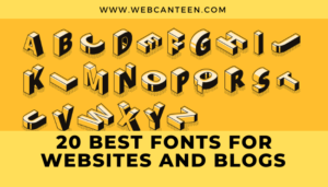 20 Best Fonts For Websites And Blogs [Typography]