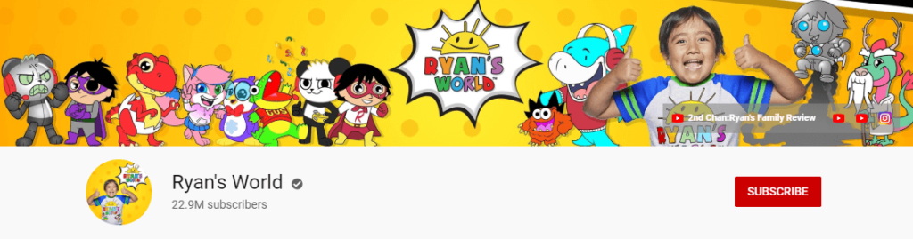 Ryan ToysReview - Youtube