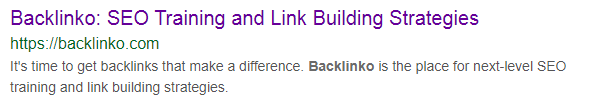 Backlinko - SERP