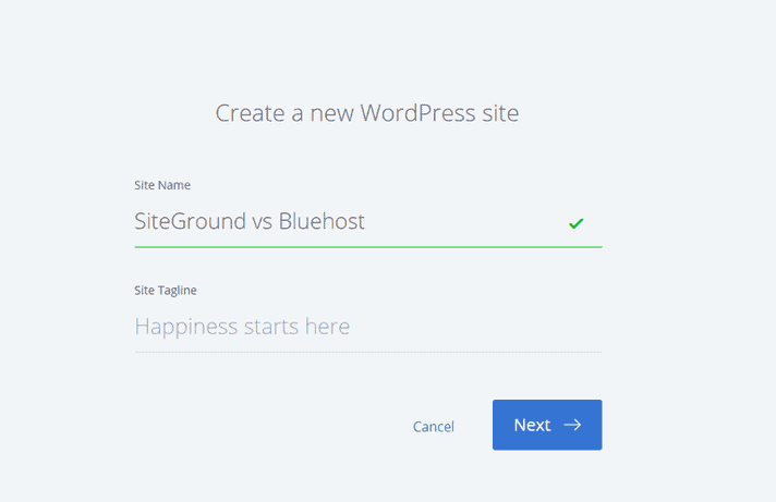 Bluehost Installation - SiteGround vs Bluehost