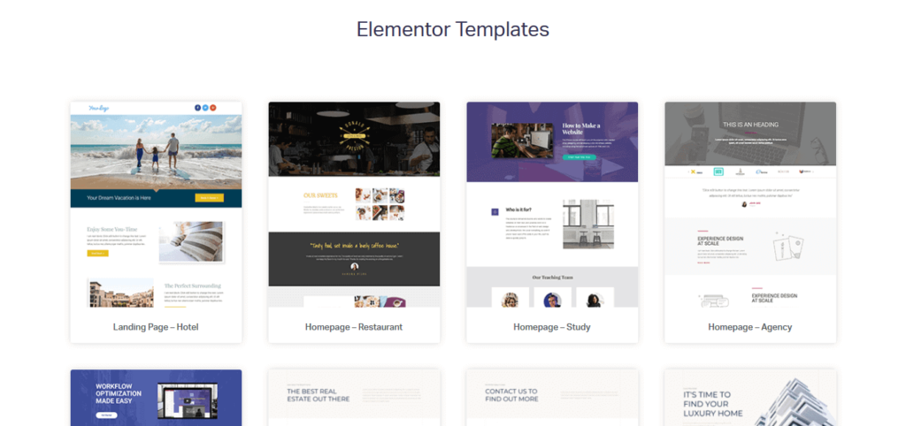 Elementor - Pre-Designed Templates  (BeaverBuilder vs Elementor)